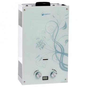 Проточный газовый водонагреватель Wert 10EG White Glass