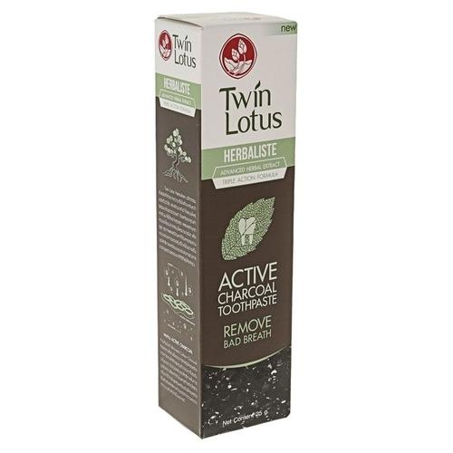 Зубная паста Twin Lotus Active Charcoal c углем