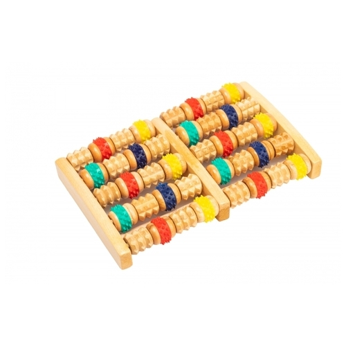 Массажер BRADEX деревянный с резиновыми роликами (KZ 0484)