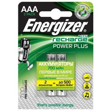 Аккумулятор Ni-Mh 700 мА·ч Energizer Accu Recharge Power Plus AAA