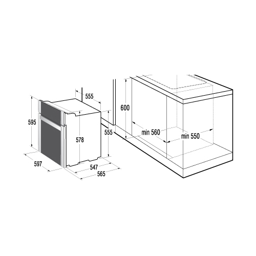 Электрический духовой шкаф Korting OKB 760 FW
