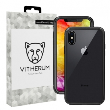 Чехол Vitherum SILVER Premium Glass Pack для Apple iPhone Xs Max