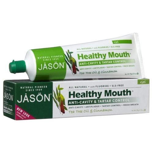 Зубная паста JASON Healthy Mouth без фтора Чайное дерево и корица