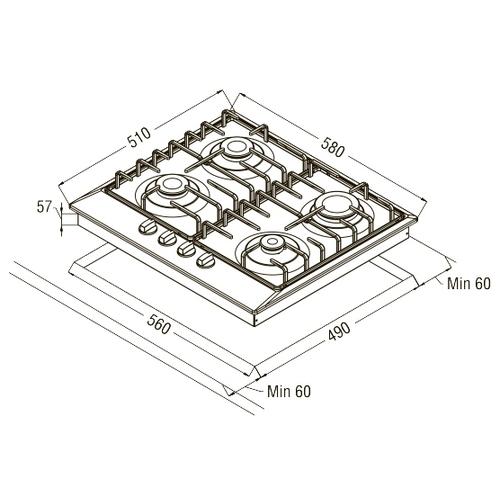 Варочная панель Schaub Lorenz SLK GB6220