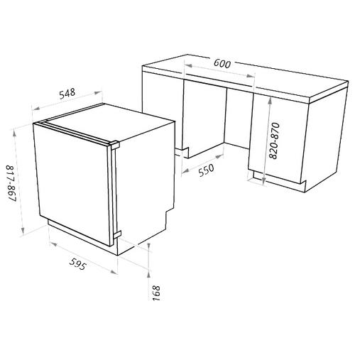 Встраиваемый холодильник MAUNFELD MBF 81SCW