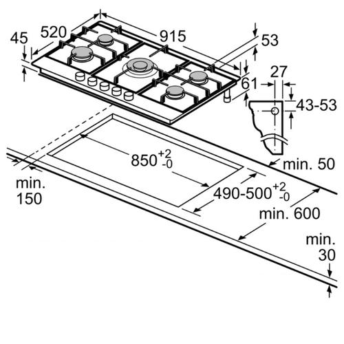 Варочная панель Bosch PCR9A5C90D