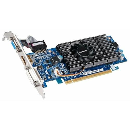 Видеокарта GIGABYTE GeForce 210 590MHz PCI-E 2.0 1024MB 1200MHz 64 bit DVI HDMI HDCP rev.1.0