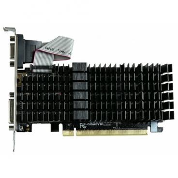 Видеокарта GIGABYTE GeForce GT 710 954Mhz PCI-E 2.0 2048Mb 1800Mhz 64 bit DVI HDMI HDCP Silent