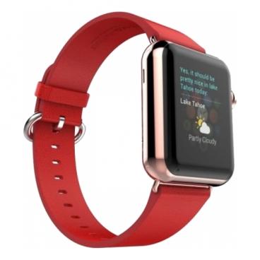 CARCAM Ремешок для Apple Watch 42mm Кожа красный