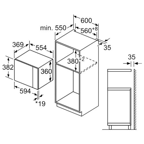 Микроволновая печь встраиваемая Bosch BFL554MW0