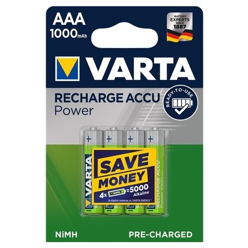 Аккумулятор Ni-Mh 1000 мА·ч VARTA Recharge Accu Power 1000 AAA