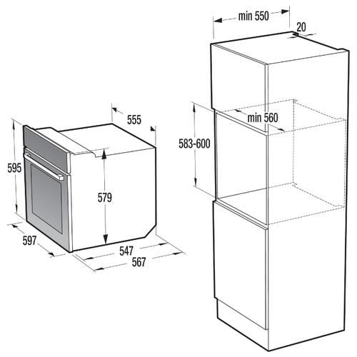 Электрический духовой шкаф Gorenje BO737ORAW