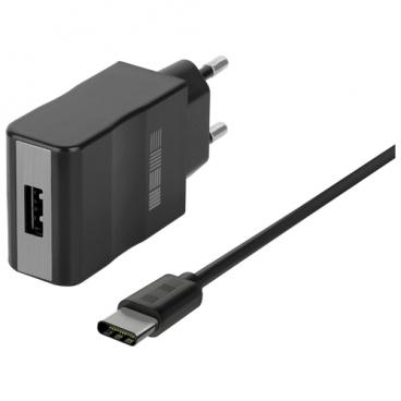 Сетевая зарядка INTERSTEP IS-TC-TYPCQC1RT-000B201 + USB Type-C