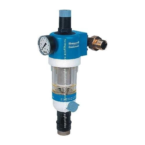 Фильтр механической очистки Honeywell FK 74C *AC муфтовый (НР/НР), с манометром