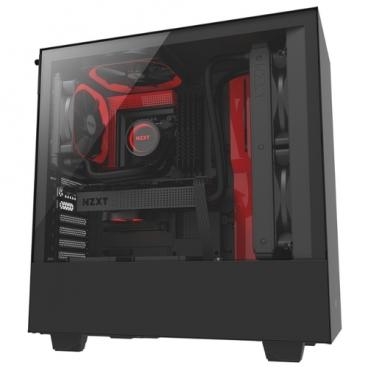 Компьютерный корпус NZXT H500 Black/red