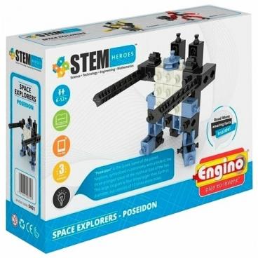 Конструктор ENGINO STEM Heroes SH21 Покорители Космоса - Посейдон
