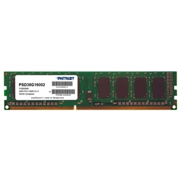 Оперативная память 8 ГБ 1 шт. Patriot Memory PSD38G16002