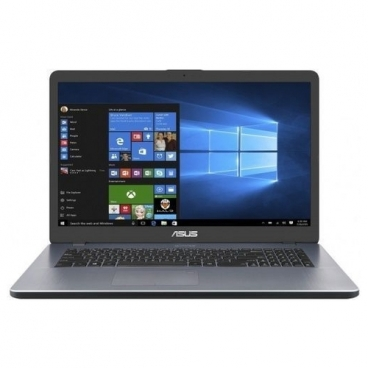 "Ноутбук ASUS VivoBook 17 X705UB-GC265T (Intel Pentium 4417U 2300 MHz/17.3""/1920x1080/4GB/1000GB HDD/DVD нет/NVIDIA GeForce MX110/Wi-Fi/Bluetooth/Windows 10 Home)"