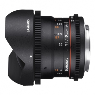Объектив Samyang 12mm T3.1 ED AS NCS VDSLR Fish-eye Canon EF""