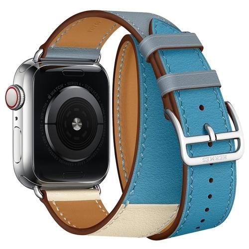 Apple Ремешок Hermès Double Tour из кожи Swift (для корпуса 40 мм)