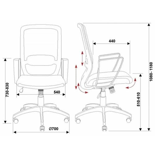Компьютерное кресло Бюрократ CH-899