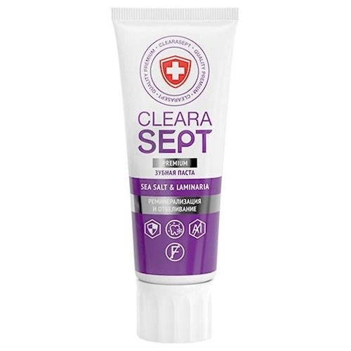 Зубная паста ClearaSept Sea Sаlt & Laminaria Реминерализация и отбеливание