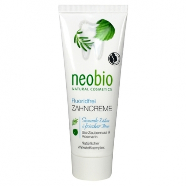 Зубная паста Neobio Без фтора, шалфей и мята