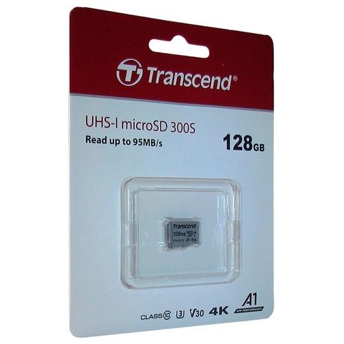 Карта памяти Transcend microSDXC 300S Class 10 UHS-I U3 A1 V30 128GB (TS128GUSD300S)