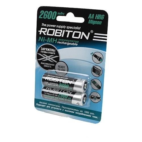 Аккумулятор Ni-Mh 2600 мА·ч ROBITON AA HR6 Mignon 2600