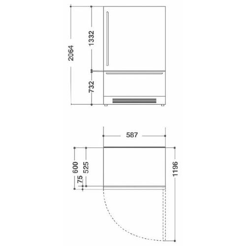 Встраиваемый холодильник KitchenAid KCZWX 20600L