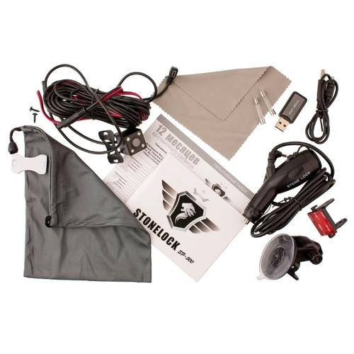 Видеорегистратор с радар-детектором Stonelock SP-500, 3 камеры, GPS