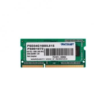 Оперативная память 4 ГБ 1 шт. Patriot Memory PSD34G1600L81S