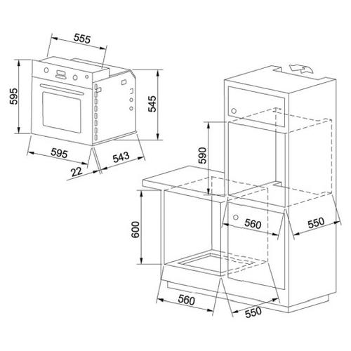 Электрический духовой шкаф FRANKE GN 86 M H XS