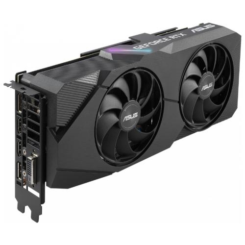 Видеокарта ASUS DUAL GeForce RTX 2060 SUPER 1470MHz PCI-E 3.0 8192MB 14000MHz 256 bit DVI 2xDisplayPort 2xHDMI HDCP EVO Advanced