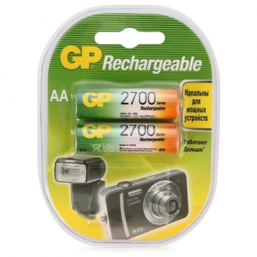 Аккумулятор Ni-Mh 2700 мА·ч GP Rechargeable 2700 Series AA