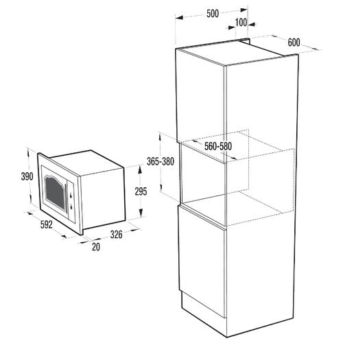 Микроволновая печь встраиваемая Gorenje BM235CLI
