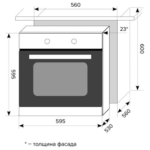 Электрический духовой шкаф LEX EDP 093 BL
