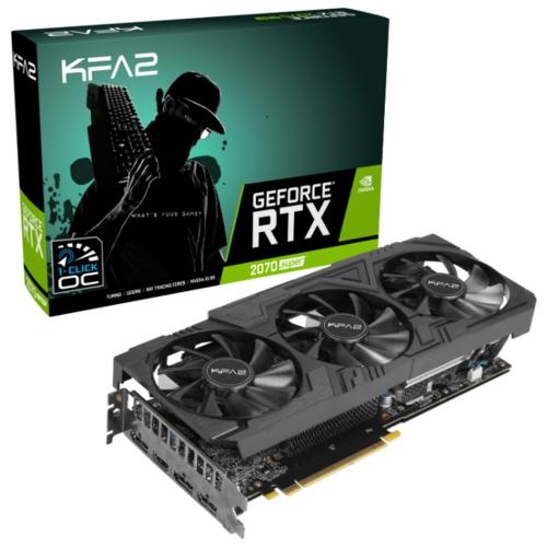 Видеокарта KFA2 GeForce RTX 2070 Super 1815MHz PCI-E 3.0 8192MB 14000MHz 256 bit HDMI 3xDisplayPort HDCP EX Gamer Black Edition