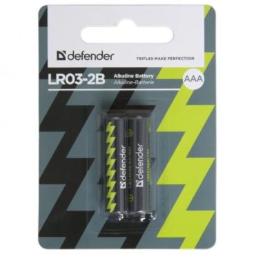 Батарейка Defender алкалиновая AAA LR03