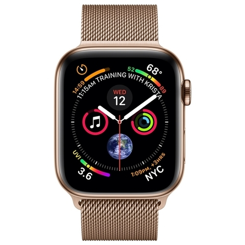 Часы Apple Watch Series 4 GPS + Cellular 40mm Stainless Steel Case with Milanese Loop