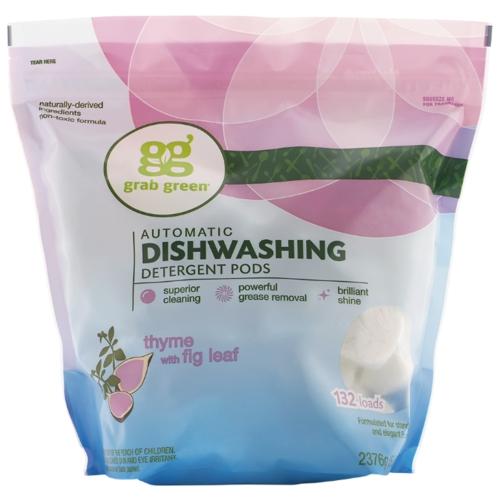 GrabGreen порошок (тимьян и лист инжира) для посудомоечной машины