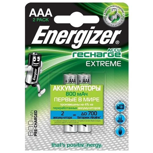 Аккумулятор Ni-Mh 800 мА·ч Energizer Accu Recharge Extreme AAA