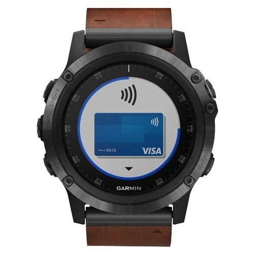 Часы Garmin Fenix 5X Plus Sapphire с кожаным ремешком