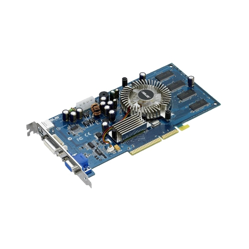 Видеокарта ASUS GeForce 6600 300Mhz AGP 128Mb 550Mhz 128 bit DVI TV