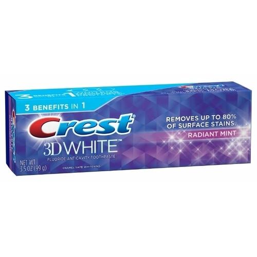 Зубная паста Crest 3D white radiant mint whitening
