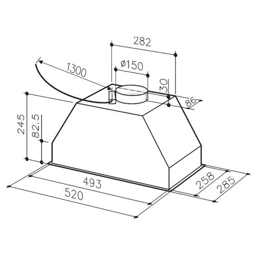 Встраиваемая вытяжка Electrolux LFG9525S