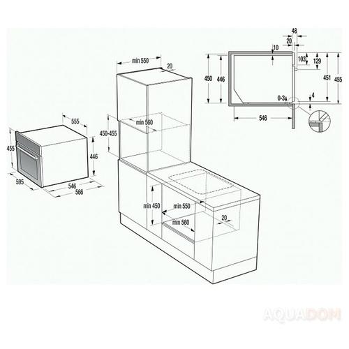 Электрический духовой шкаф Gorenje GCM 812 B