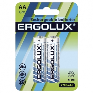 Аккумулятор Ni-Mh 2700 мА·ч Ergolux Rechargeable batteries AA