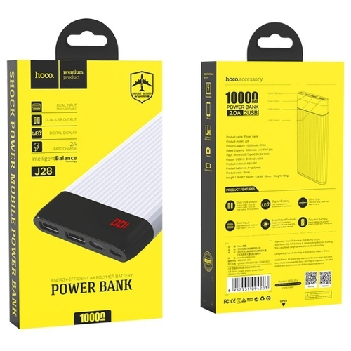 Аккумулятор Hoco J28 Shock power 10000 mAh