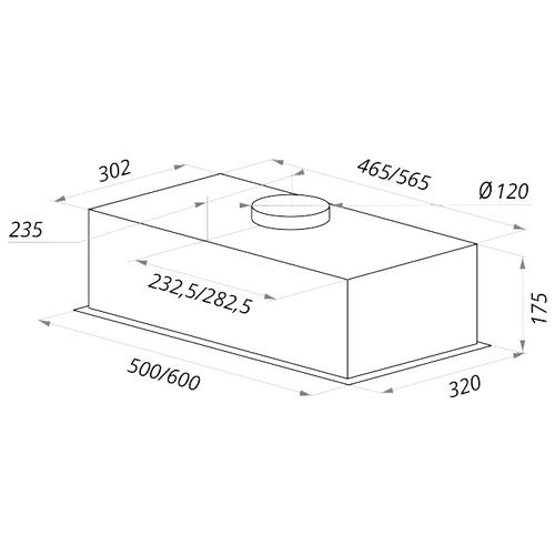 Встраиваемая вытяжка MAUNFELD Crosby Push (2m) 50 нержавейка